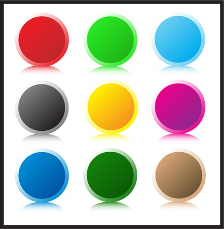 Set of glass buttons Stock Vector - 3216454