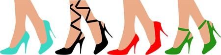 outset: Female legs in shoes Illustration