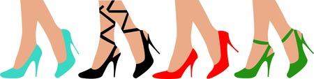 piernas de mujer: Mujeres en las piernas zapatos