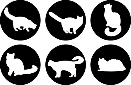 Logo cats, cat buttons, cat icon... Vector