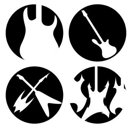 Guitar simbols Vector