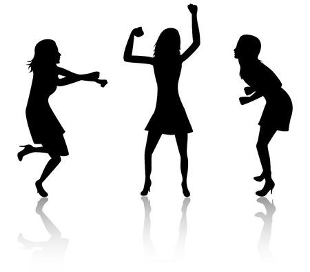 Tres mujeres bailando  Foto de archivo - 3371462