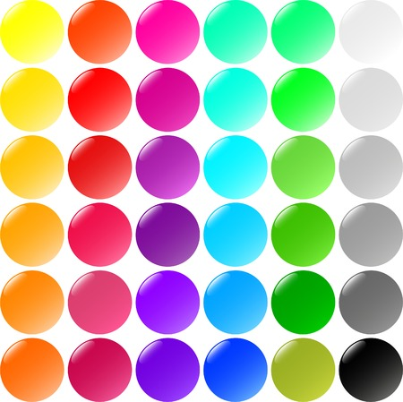 Big set of round buttons Vector