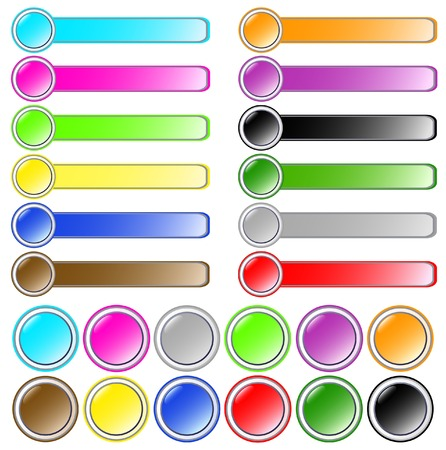 Big set of buttons Vector