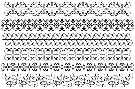Decoration borders set Vector