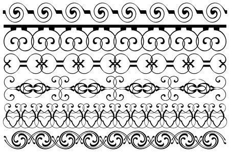 Decoration borders set Illustration