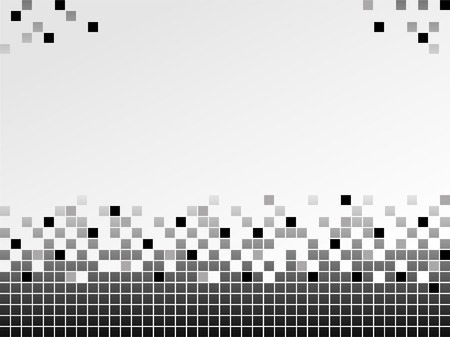 pixel art: Black and white background with pixels