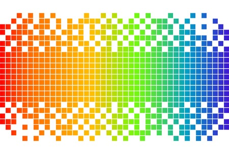 pixel art: Rainbow digital background