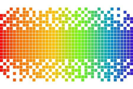 arco iris vector: Rainbow digital de fondo