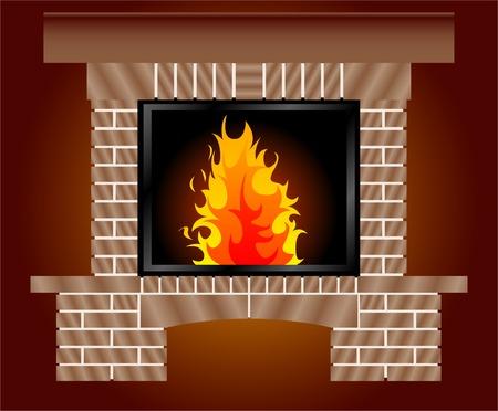 fireside: Fireplace