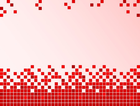 graphical: Red background with pixels