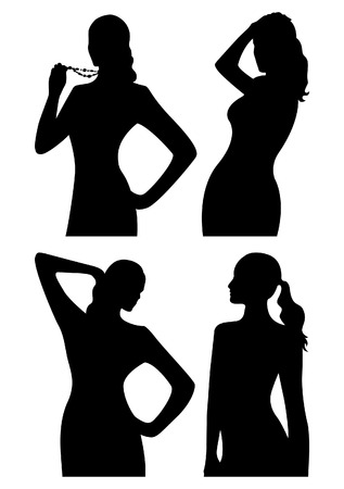 Women silhouettes Stock Vector - 3740002