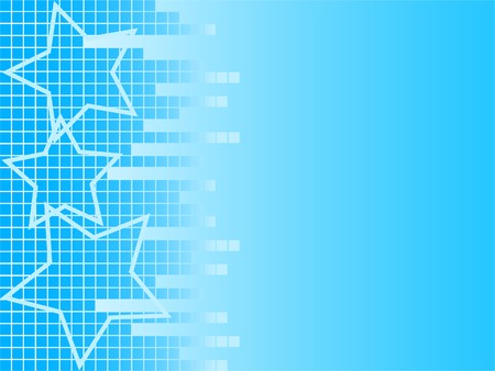 Blue pixel background with stars Vector