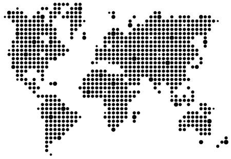 World pixel map Vector