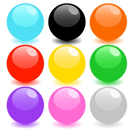 Set of colored spheres Illustration