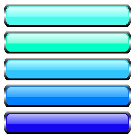 Set of metal buttons Vector