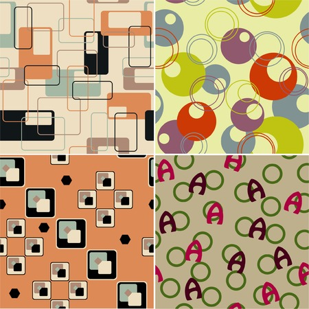 Seamless retro backgrounds Vector