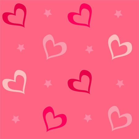 Seamless background for Valentines day Vector