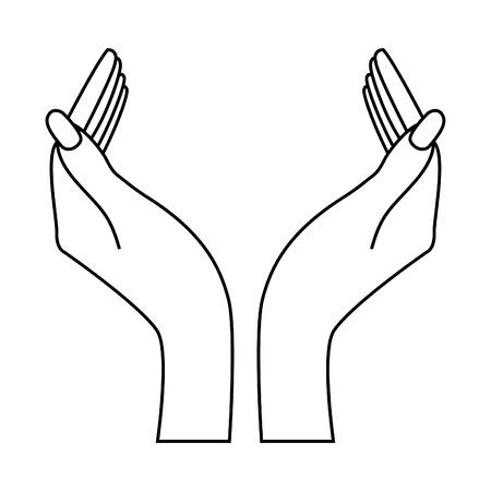 Two hands. Insert your logo! Vector