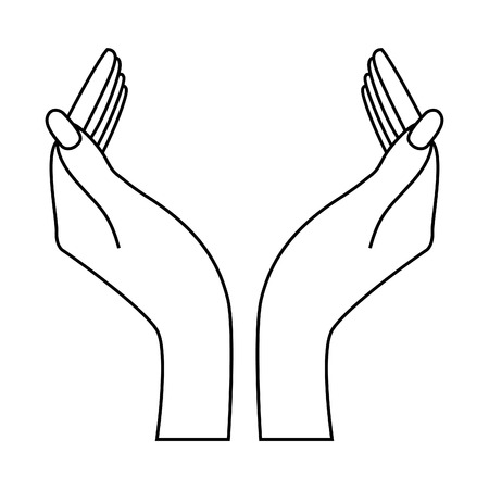 two hands: Two hands. Insert your logo!