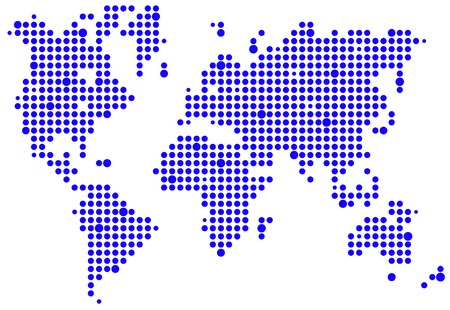 World pixel map Vector