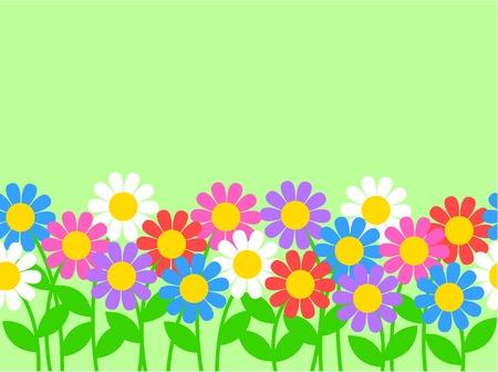 Seamless flower border Illustration