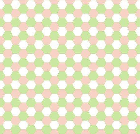 Spring hexagonal seamless pattern Vector