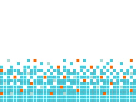 Blue mosaic background, seamless border Vector