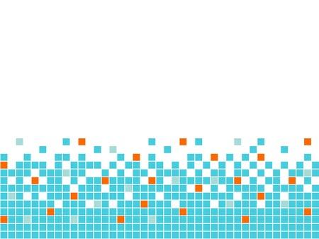 pixelated: Blue mosaic background, seamless border Illustration