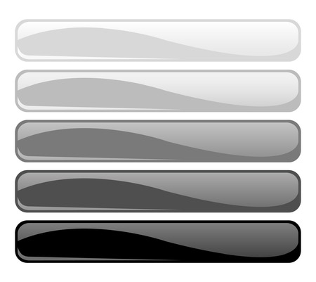bw: Set of glossy b&w buttons Illustration