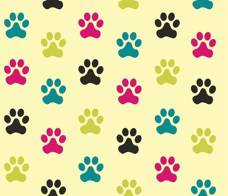 Footprint, seamless backgrounds  Vector