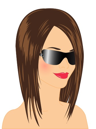 Glamour beauty in sunglasses Stock Vector - 5355265