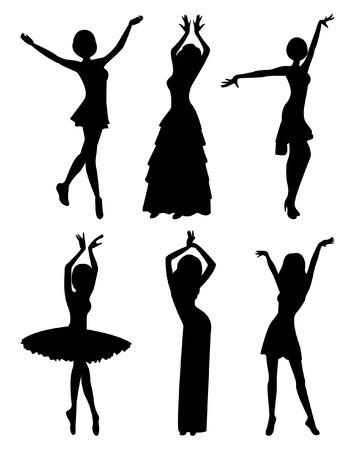 Professional dancers Vector