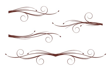 twirl: Scroll design elements Illustration