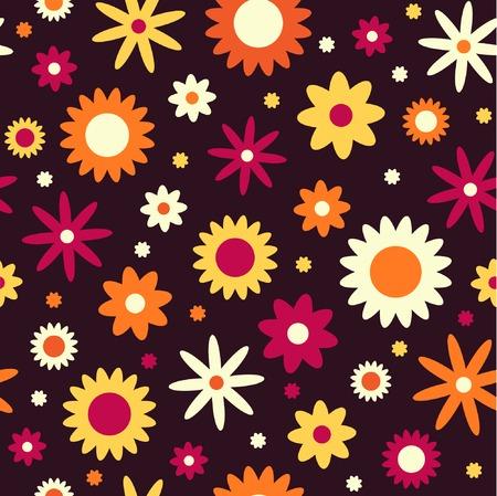 autumn flowers: Autumn flowers, seamless background Illustration