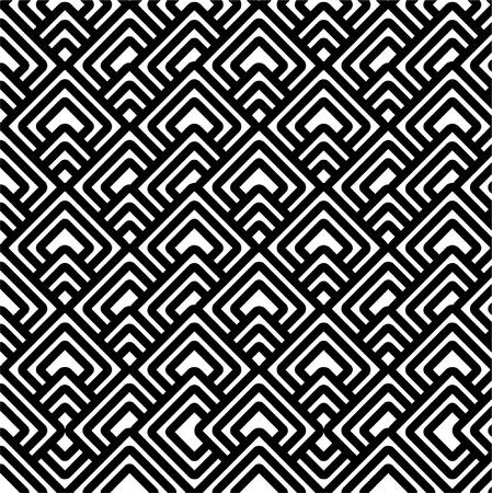 Geometric black & white pattern Vector