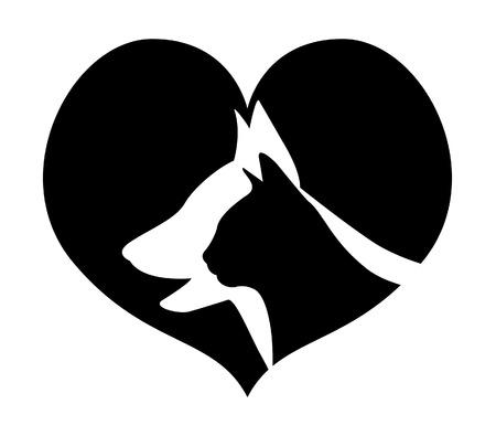 silueta de gato: Amor a los animales