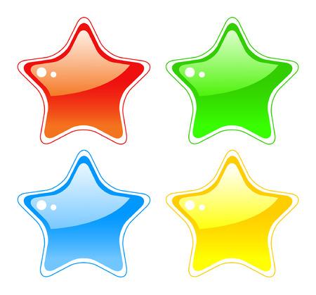 lucero: Botones de estrella  Vectores