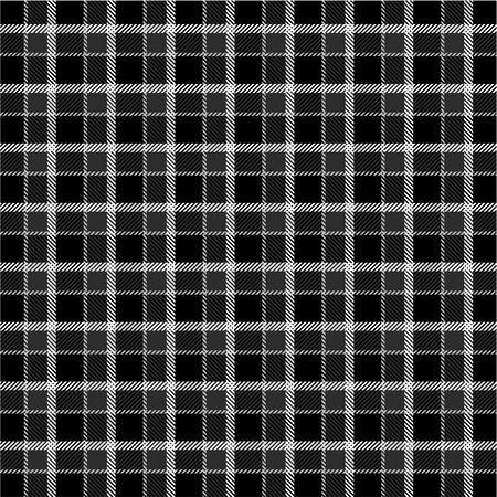 Black and white plaid pattern Vector