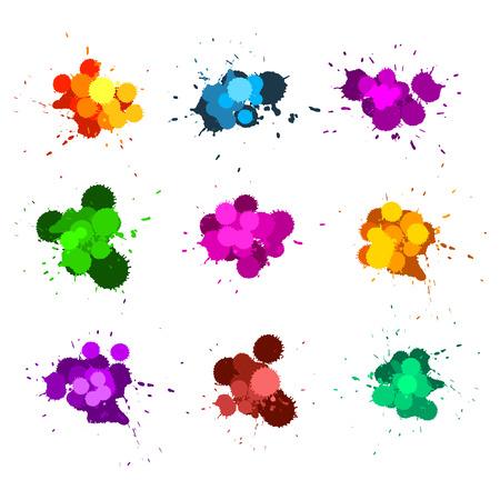 Color ink splats Stock Vector - 7234104