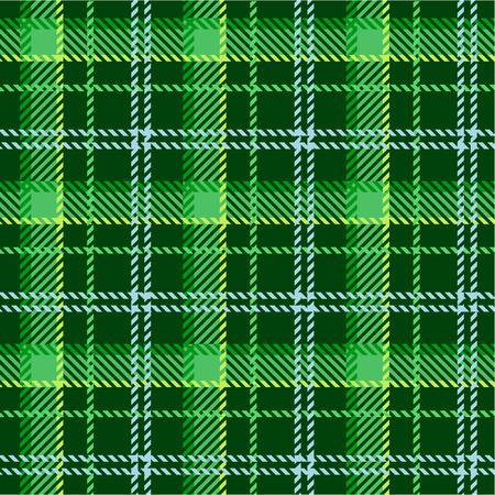 irland�s: Patr�n de plaid verde  Vectores