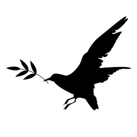Bird with a branch Vector