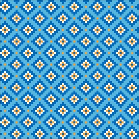 uzbek: National uzbek pattern, seamless Illustration