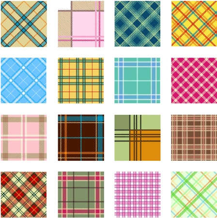 16 different plaid patterns