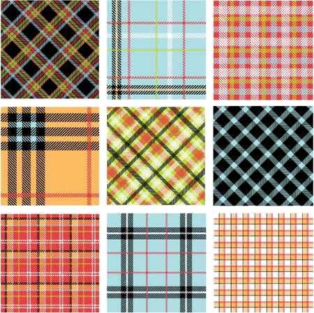 Bright plaid patterns Stock Vector - 9905305