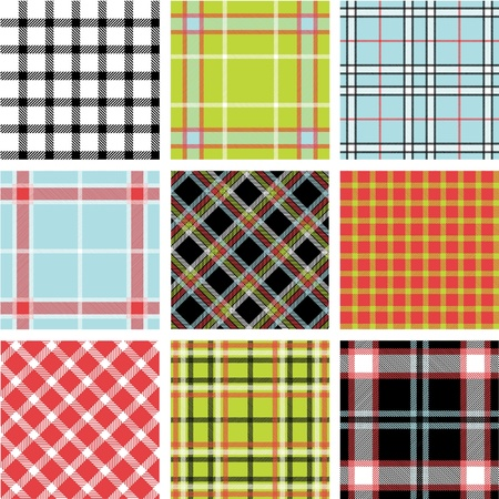 Set of plaid patterns Stock Vector - 9905267