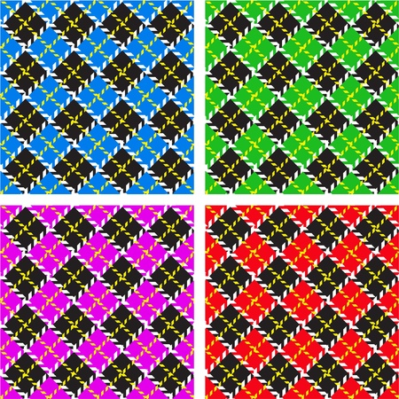 Set of 4 plaid patterns Stock Vector - 9905277