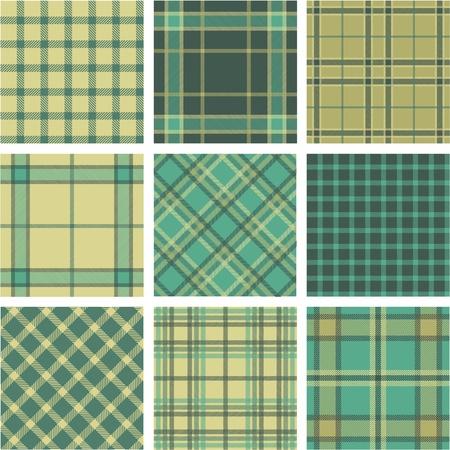 9 plaid pattern set Stock Vector - 9905290