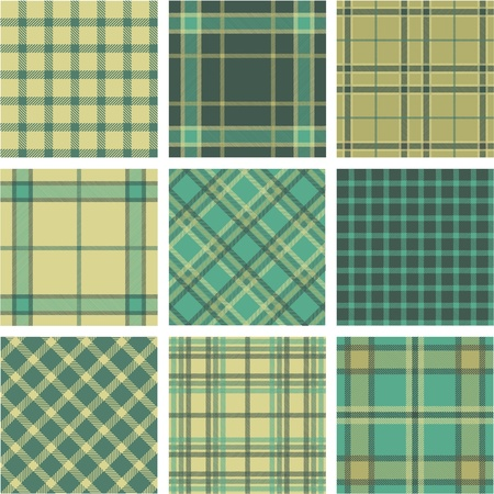 chequered backdrop: 9 plaid pattern set