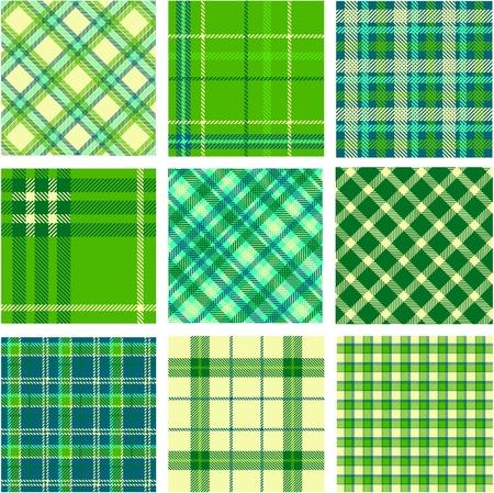 plaid patterns: 9 plaid patterns set